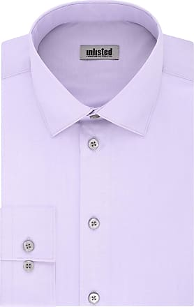 Unlisted by Kenneth Cole Mens Dress Shirt Regular Fit Solid, Lilac, 16-16.5 Neck 36-37 Sleeve (Large)