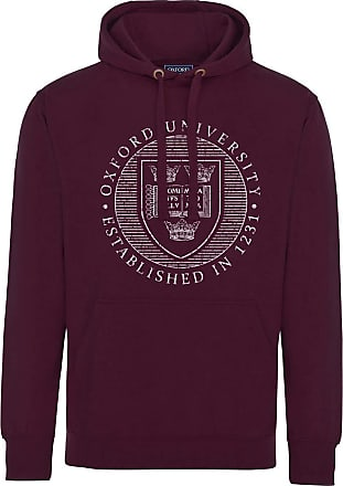 Oxford University Official Distressed Crest Hoodie - Maroon - XX Large