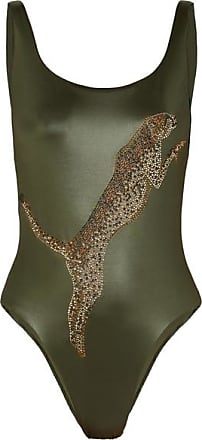 2060a6c419 Agent Provocateur Indiana Crystal-embellished Swimsuit - Light green