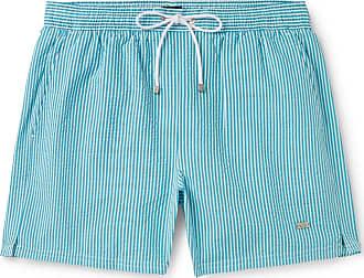 8648a3fb27 HUGO BOSS Mid-length Striped Seersucker Swim Shorts - Blue