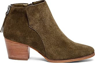 Sole Society Womens River Ankle Bootie Army Size 5.5 Nubuck Leather From Sole Society