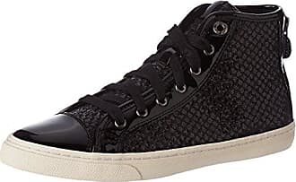 46f6ad2859e9e8 Geox Damen D New Club E Hohe Sneaker Schwarz (Black) 35 EU