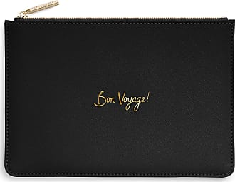 Katie Loxton Bon Voyage Womens Medium Vegan Leather Clutch Perfect Pouch Black