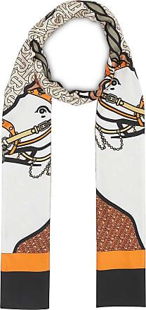 6b49086e899b Burberry Unicorn and Monogram Print Silk Skinny Scarf - Multicolour