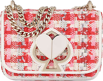 Kate Spade New York Nicola Tweed Twistlock Chain Crossbody Bag Pink Multi Umhängetasche rosa