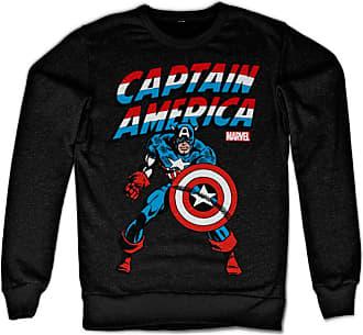 MARVEL Captain America Sweatshirt (Black), Large