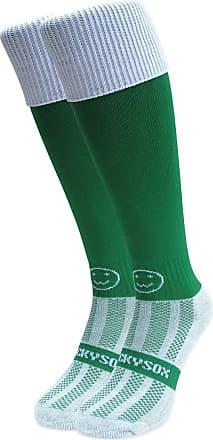 Wackysox Emerald Green with White Turnover Top Knee Length Socks
