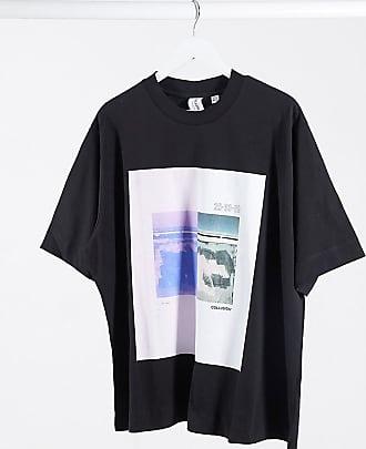 Collusion Exklusives T-Shirt in großen Größen und mit 2 Farben bedruckt-Schwarz