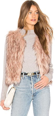 BB Dakota Barbarella Faux Fur Vest in Mauve