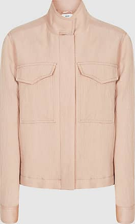 Reiss Ives - Twin Pocket Utility Jacket in Pale Pink, Womens, Size 10