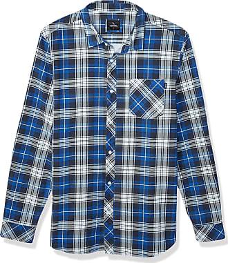 Rip Curl Mens Scout Long Sleeve Flannel Sweatshirt, Blue, XL