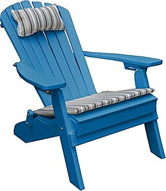 A & L Furniture A & L Furniture 881-BR Bright RED Polywood Folding/Reclining Adirondack Chair, One Size