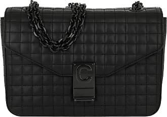 Celine C Bag Medium Patent Calfskin Black Umhängetasche schwarz