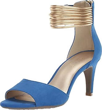 Aerosoles Womens Glamour Girl Heeled Sandal, Blue Combo, 6 M US