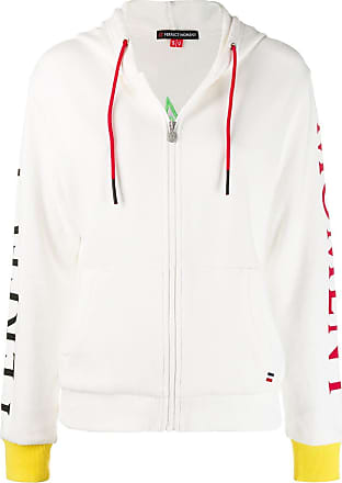 Perfect Moment logo patch zipped hoodie - Branco