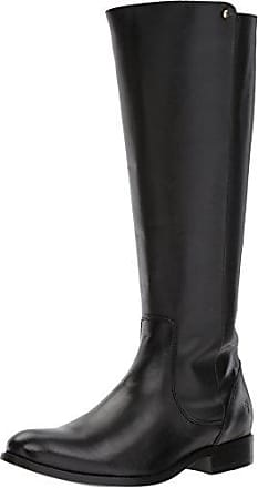 a05bc32d4dd2 Frye Womens Melissa Stud Back Zip Riding Boot Black Smooth Vintage Leather  9.5 M US