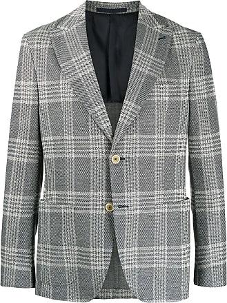 Eleventy fitted checked blazer - Blue