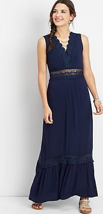 Maurices Crocheted V-Neck Maxi Dress