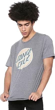 355bf07612 Santa Cruz Camiseta Santa Cruz Lined Dot Cinza