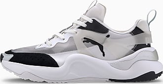 Puma Rise Womens Trainers, Black/White, size 3.5, Shoes