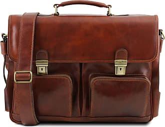 Tuscany Leather Cartella multiscomparto in pelle con tasche frontali Testa  di Moro 16e27013a31