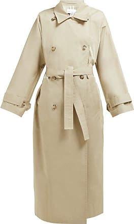 Raey Batwing Split-back Cotton Trench Coat - Womens - Beige
