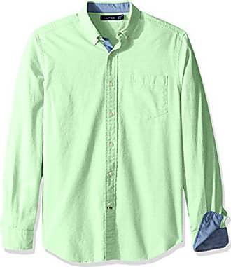 c41421da62 Nautica Mens Long Sleeve Button Down Solid Oxford Shirt, Patina Green, Small