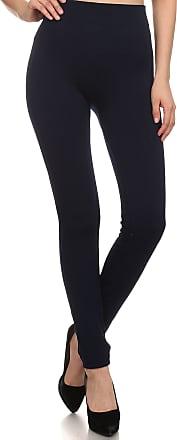 Sakkas 200TX Warm Cable Knit Fleece Lined High Waist Leggings - Navy - Plus Size