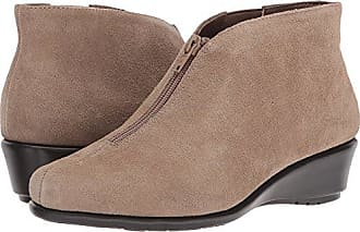 f2efab34d975 Aerosoles Womens Allowance Ankle Boot Taupe Suede 10.5 M US