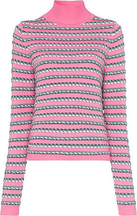 Rosie Assoulin Camiseta mangas longas de tricô listrada - Rosa