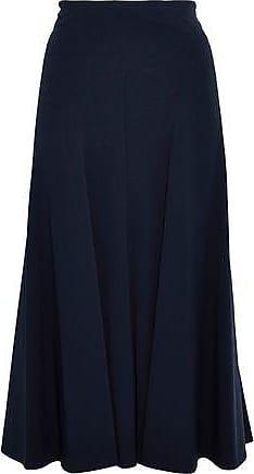 Derek Lam Derek Lam Woman Moore Pleated Cady Midi Skirt Navy Size 36