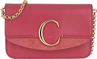 Chloé C Clutch With Chain Scarlet Pink Umhängetasche pink