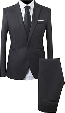 AngelSpace Mens Single Breasted Casual Slim Fitted Basic Cotton Blazer Suit Jacket
