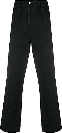 Raf Simons Calça jeans reta cintura alta - Preto