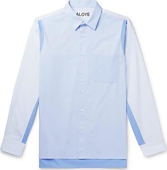 Aloye Colour-block Cotton-poplin Shirt - Blue