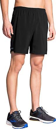 Brooks Mens Sherpa 7 2-in-1 Shorts Black Medium 7