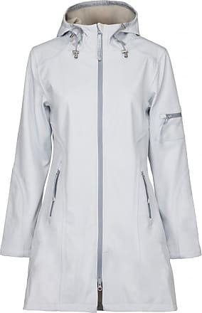 Ilse Jacobsen Women 3/4 Raincoat White Blue