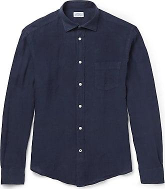 Hartford Linen Shirt - Navy