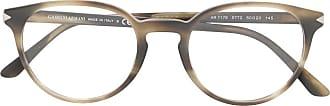 Giorgio Armani Armação de óculos redonda - Cinza
