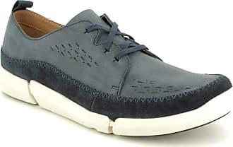 27f9f0eabdb3f8 Clarks Trifi Lace Mens Casual Shoes 10 Navy Nubuck