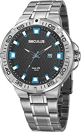 Seculus Relógio Seculus Masculino Ref: 20757g0svna1 Esportivo Prateado