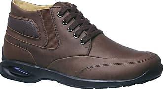 Doctor Shoes Antistaffa Coturno Masculino 1854 em Couro Graxo Café Doctor Shoes-Café-40