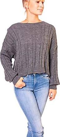 Oversize Strickpulli Pullover Blogger Pulli mit Fledermaus Ärmel*XS S M-34 36 38