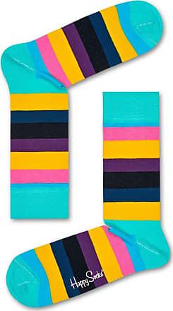 Happy Socks Stripe Socks in Bright Multi - M/L
