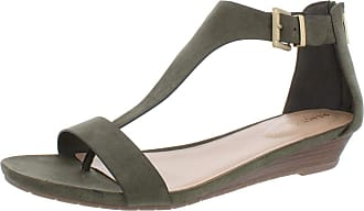 Kenneth Cole Reaction Womens Great Gal Fabric Open Toe Casual, Green, Size 5.0 US / 3 UK US
