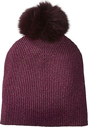 af58d955dec17 Sofiacashmere Womens Cashmere Fur Pom Hat-Slouchy, Magic Berry + Gold  Lurex/Plum