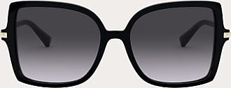 Valentino Valentino Occhiali Squared Acetate Frame With Studs Women Black/gradient Black Acetate 100% OneSize