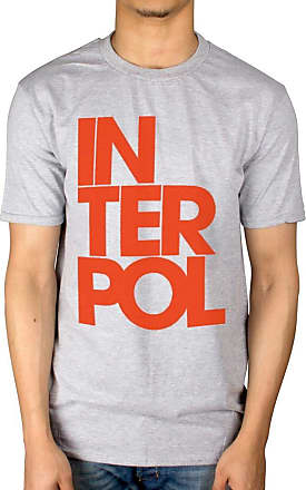 AWDIP Official Interpol Stacked Logo T-Shirt Grey