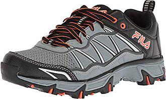 4834672bb3afe4 Fila Mens at Peake 19 Trail Running Shoe Monument Dark Shadow red Orange 7.5