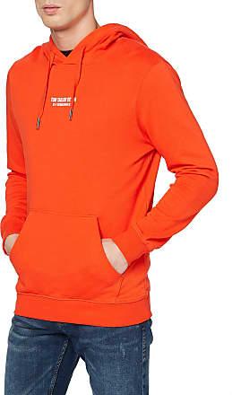 Tom Tailor Denim Mens Print Hoodie Hooded Sweatshirt, Fever Red, M